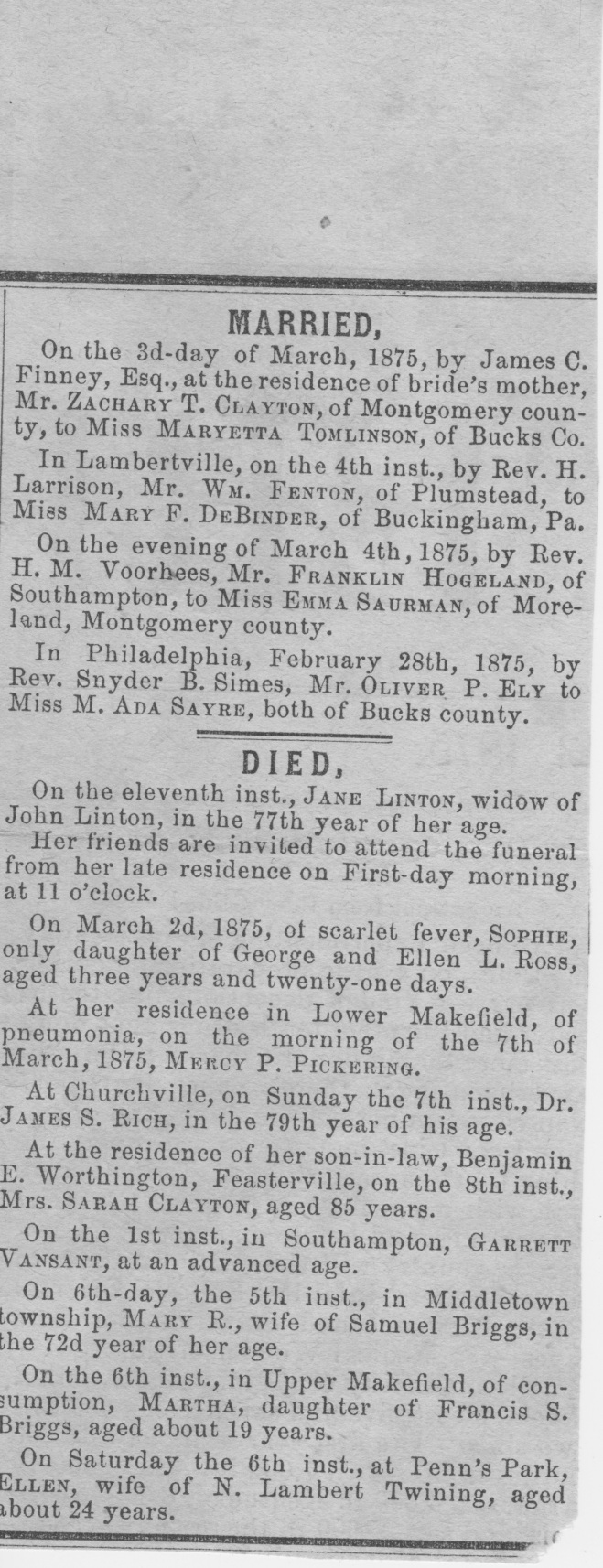 Jane Linton Death Notice