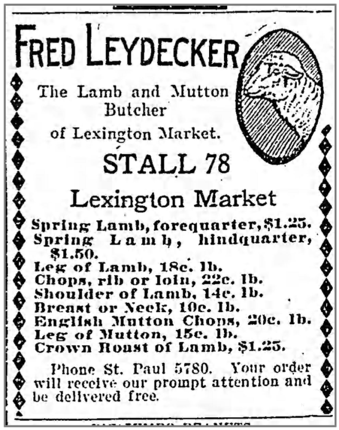 19120423 Fred Leydecker advert The_Baltimore_Sun_Tue__Apr_23__1912