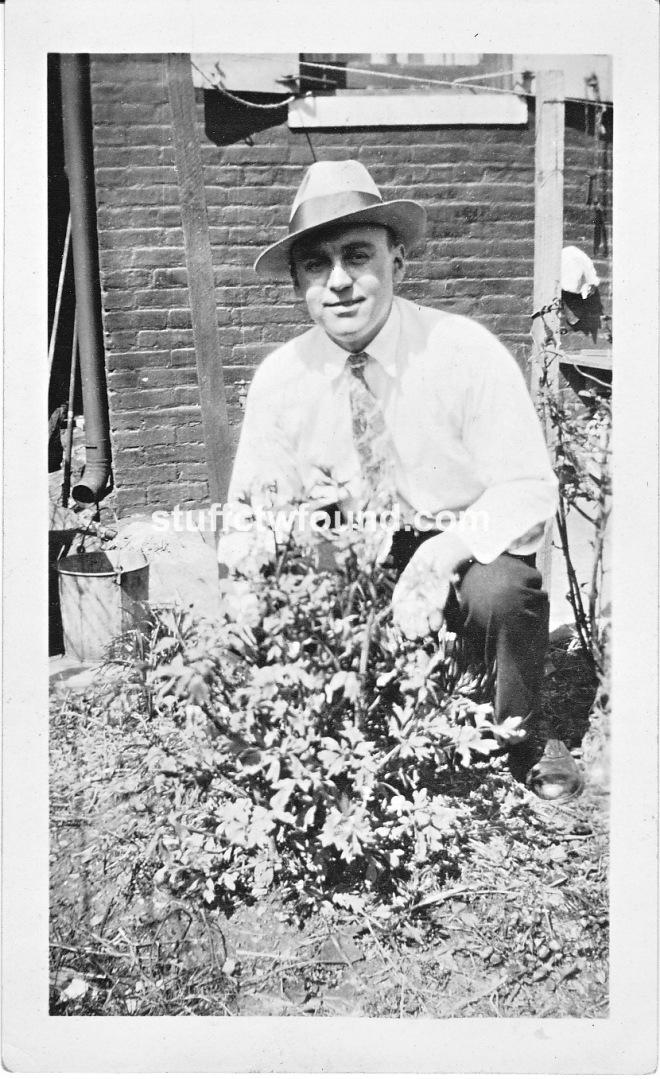 Frank J Zeller with plant 1