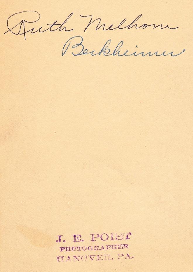 Ruth Melhorn Berkheimer back