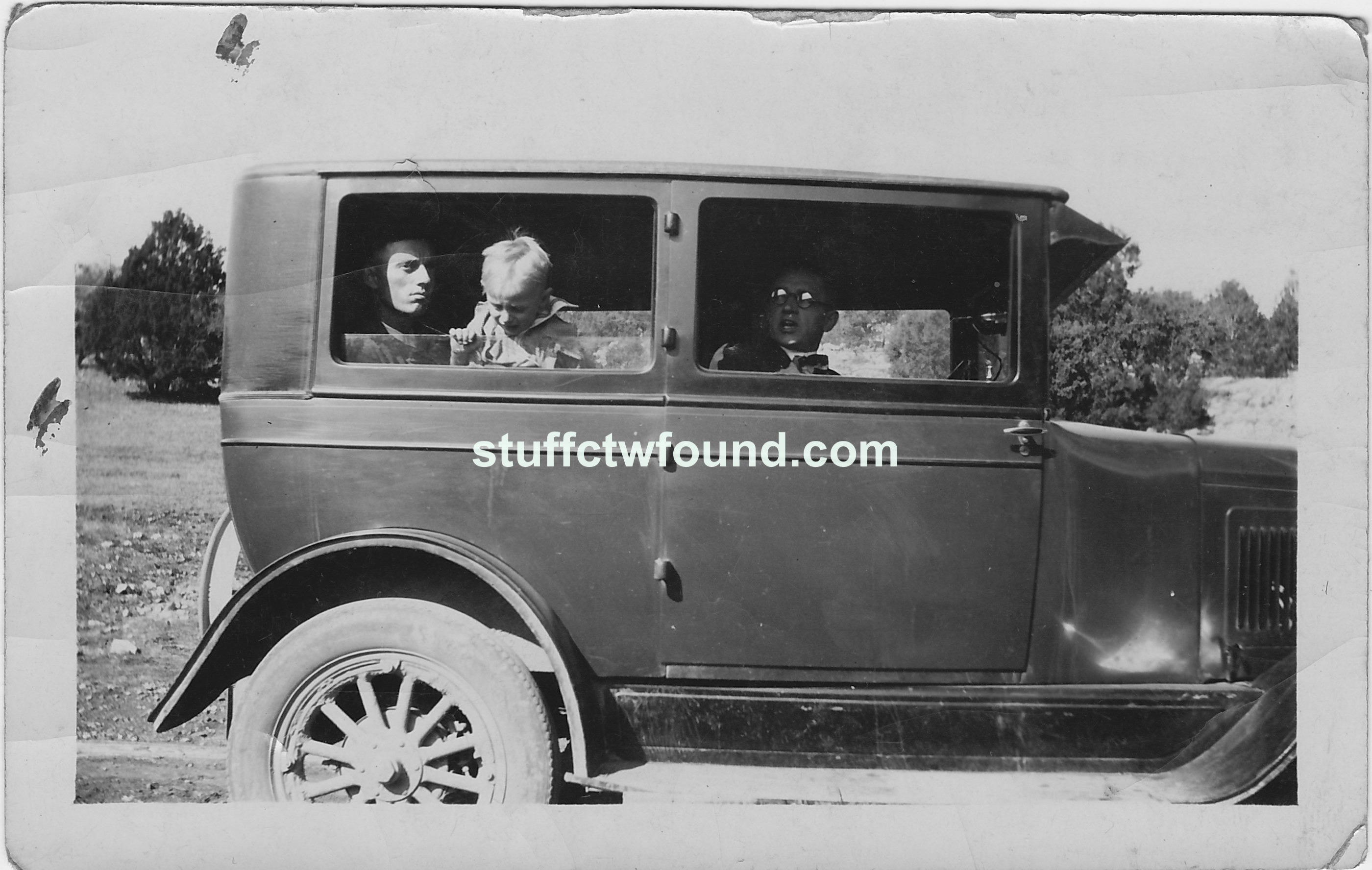 Three men in a car stuff i found for Oneil s bains md