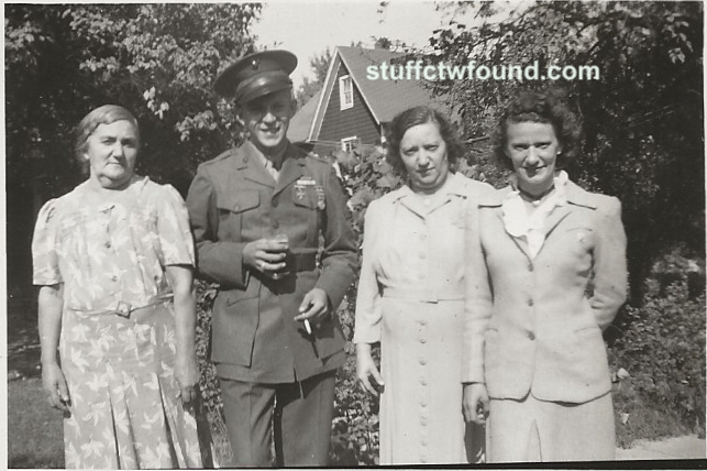 Ruth and Roy and Grandmother and Mother front no back