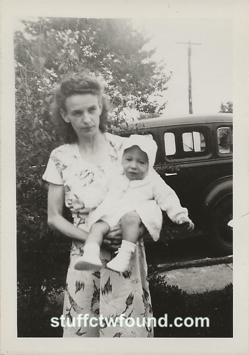 Ruth and unidentified baby (no back)