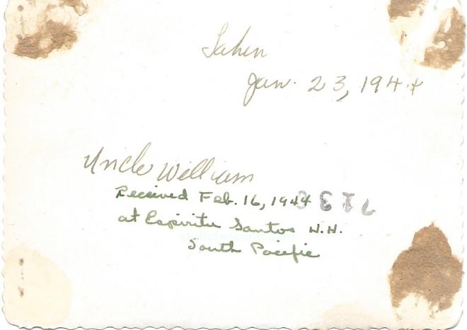 Uncle William back