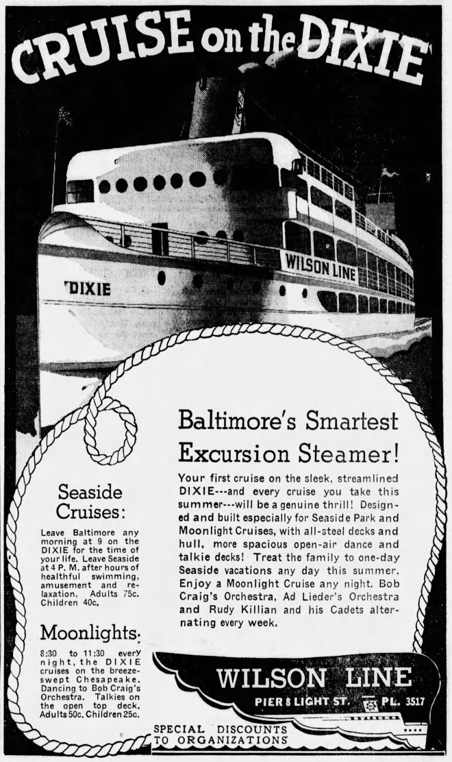 US Dixie Advert 4 The_Baltimore_Sun_Thu__Jun_18__1936_